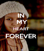 IN  MY HEART  FOREVER   - Personalised Poster A4 size