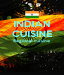 INDIAN CUISINE Regional cuisine   - Personalised Poster A4 size