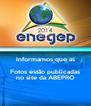 Informamos que as Fotos estão publicadas no site da ABEPRO - Personalised Poster A4 size