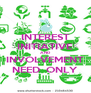 INTEREST INITIATIVE AND INVOLVEMENT NEED  ONLY - Personalised Poster A4 size