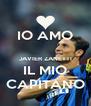 IO AMO  JAVIER ZANETTI IL MIO CAPITANO - Personalised Poster A4 size