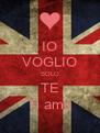 IO VOGLIO SOLO TE Ti amo - Personalised Poster A4 size