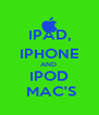 IPAD, IPHONE AND  IPOD  MAC'S - Personalised Poster A4 size