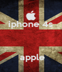 iphone 4s       apple  - Personalised Poster A4 size