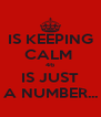 IS KEEPING CALM  46 IS JUST A NUMBER... - Personalised Poster A4 size