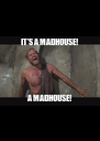 IT'S A MADHOUSE!             A MADHOUSE!       - Personalised Poster A4 size