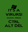 IT'S A VIRURS! QUICK, PRESS CTRL ALT DEL - Personalised Poster A4 size