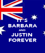 IT'S BARBARA AND JUSTIN FOREVER - Personalised Poster A4 size