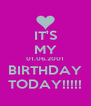 IT'S MY 01.06.2001 BIRTHDAY TODAY!!!!! - Personalised Poster A4 size