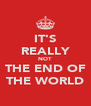 IT'S REALLY NOT THE END OF THE WORLD - Personalised Poster A4 size