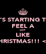 IT'S STARTING TO FEEL A LOT LIKE CHRISTMAS!!! <3  - Personalised Poster A4 size