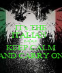 IT's THE ITALIAN   EAGLE KEEP CALM AND CARRY ON - Personalised Poster A4 size