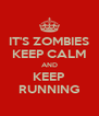 IT'S ZOMBIES KEEP CALM AND KEEP RUNNING - Personalised Poster A4 size