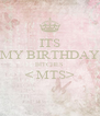 ITS MY BIRTHDAY BITCHES < MTS>  - Personalised Poster A4 size