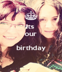 Its  our  birthday  - Personalised Poster A4 size