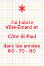 J'ai habité Ville-Émard et Côte St-Paul dans les années 60 - 70 - 80 - Personalised Poster A4 size