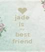 jade is  my best friend - Personalised Poster A4 size