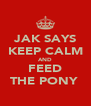 JAK SAYS KEEP CALM AND FEED THE PONY  - Personalised Poster A4 size