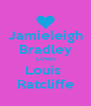 Jamieleigh Bradley Loves Louis  Ratcliffe - Personalised Poster A4 size