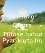 Janeman Chitra me Anup Tumse bahut Pyar karta hu - Personalised Poster A4 size