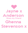 Jayne x Anderson  likes my friend Ghenna  Stevenson x - Personalised Poster A4 size