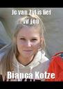 Jc van Zyl is lief vir jou Bianca Kotze - Personalised Poster A4 size