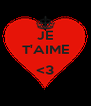 JE T'AIME  <3  - Personalised Poster A4 size