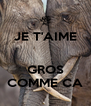 JE T'AIME   GROS COMME CA - Personalised Poster A4 size