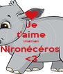 Je t'aime maman Nironécéros  <3 - Personalised Poster A4 size