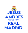 JESUS ANDRES GOES FOR REAL MADRID  - Personalised Poster A4 size
