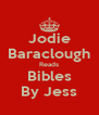 Jodie Baraclough Reads Bibles By Jess - Personalised Poster A4 size