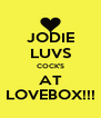 JODIE LUVS COCK'S AT LOVEBOX!!! - Personalised Poster A4 size