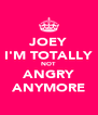 JOEY I'M TOTALLY NOT ANGRY ANYMORE - Personalised Poster A4 size