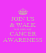 JOIN US & WALK FOR BREAST CANCER AWARENESS - Personalised Poster A4 size