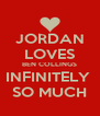 JORDAN LOVES BEN COLLINGS INFINITELY  SO MUCH - Personalised Poster A4 size