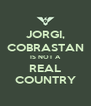 JORGI, COBRASTAN IS NOT A REAL COUNTRY - Personalised Poster A4 size