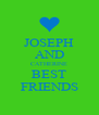 JOSEPH AND CATHERINE BEST FRIENDS - Personalised Poster A4 size