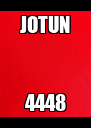 JOTUN 4448 - Personalised Poster A4 size