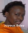 Joyeux Bday - Personalised Poster A4 size