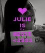JULIE IS De BESTE <3333 - Personalised Poster A4 size