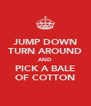JUMP DOWN TURN AROUND AND PICK A BALE OF COTTON - Personalised Poster A4 size