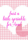 Just a little sprinkle for Ava! - Personalised Poster A4 size