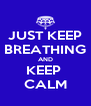 JUST KEEP BREATHING AND KEEP  CALM - Personalised Poster A4 size
