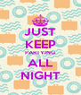 JUST KEEP PARTYING ALL NIGHT - Personalised Poster A4 size