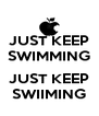 JUST KEEP SWIMMING  JUST KEEP SWIIMING - Personalised Poster A4 size