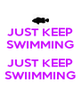 JUST KEEP SWIMMING  JUST KEEP SWIIMMING - Personalised Poster A4 size