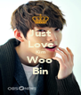Just Love Kim Woo Bin - Personalised Poster A4 size