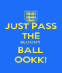 JUST PASS THE BLOODY BALL OOKK! - Personalised Poster A4 size