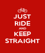 JUST RIDE AND KEEP STRAIGHT - Personalised Poster A4 size