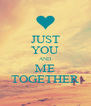 JUST YOU AND ME TOGETHER - Personalised Poster A4 size